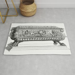 Carved Wooden Box (1862) from Gazette Des Beaux-Arts a French art review Rug