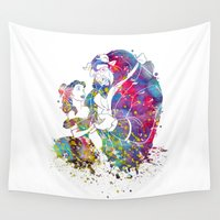 beauty and the beast Wall Tapestries featuring Beauty and the Beast by Bitter Moon