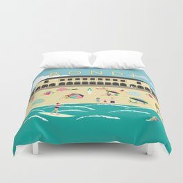 Bondi Beach Vintage Style Art Print Duvet Cover