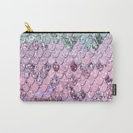 Mermaid Scales with Unicorn Girls Glitter #4 #shiny #pastel #decor #art #society6 Carry-All Pouch