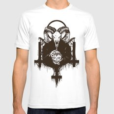 Satan White LARGE Mens Fitted Tee