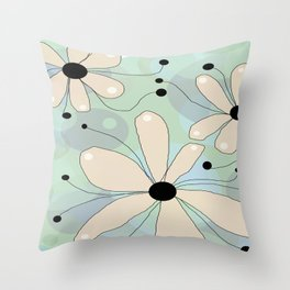 FLOWERY ASTA  / ORIGINAL DANISH DESIGN bykazandholly Throw Pillow