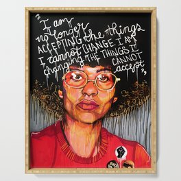 Angela Davis Serving Tray