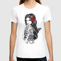 lolita T-shirts featuring Tattoo Lolita by Rachel Caldwell