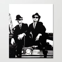 blues brothers Canvas Prints featuring Blues Brothers by DmDan
