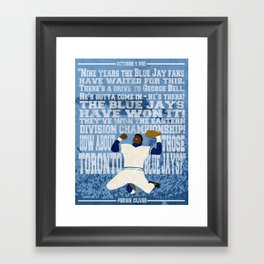 """""""They've won the Eastern Division Championship!"""" Framed Art Print"""