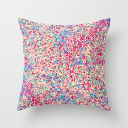 Color Drops Throw Pillow