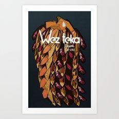 WEZTEKA TRIBAL WARRIOR Art Print