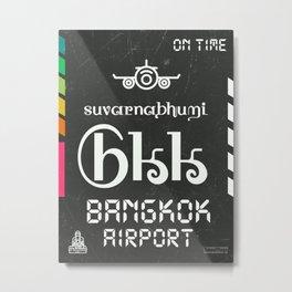 BKK Bangkok black Metal Print