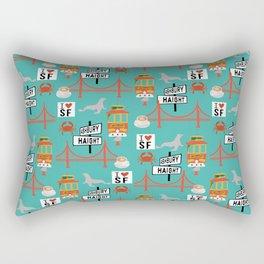 San Francisco travel art cute decor for nursery kids room california Rectangular Pillow