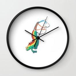 Jet Pack Unicorn Wall Clock