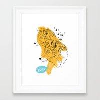 wolves Framed Art Prints featuring Wolves by Ann Van Haeken
