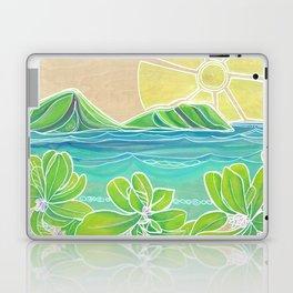 Naupakas in Paradise Surf Art by Lauren Tannehill Laptop & iPad Skin