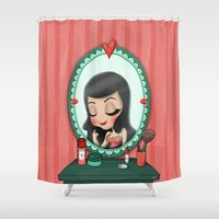 make up Shower Curtains featuring Make up  by ·eiO·