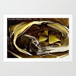 House Hippo Art Print