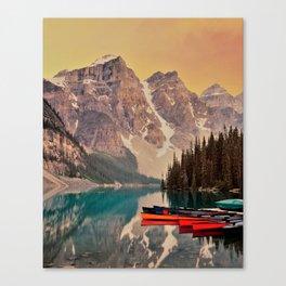 scenic beauty deep valley Canvas Print