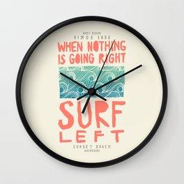 Surf Left Wall Clock