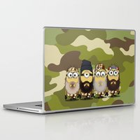 minions Laptop & iPad Skins featuring Minions Mashup Duck Dinasty by Akyanyme
