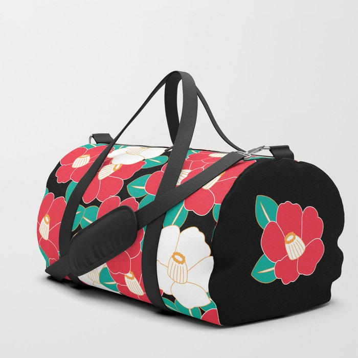 Shades of Tsubaki - Red & Black Duffle Bag