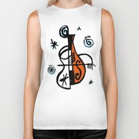 cello Biker Tanks featuring Cello by Ewen Prigent