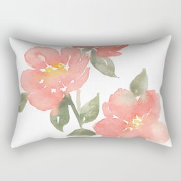 Loose watercolor peonies Rectangular Pillow