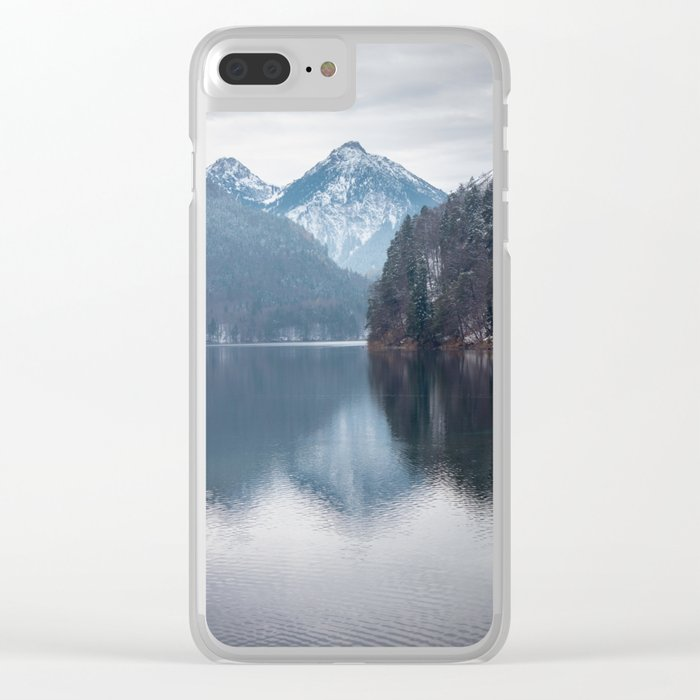 Beautiful lake, Bavarian alps Clear iPhone Case