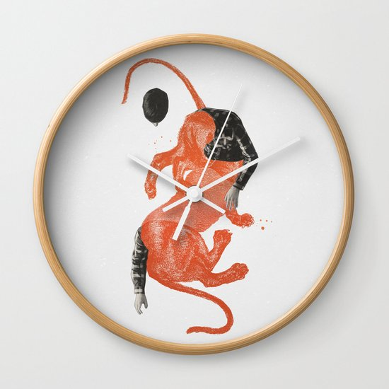To The Beasts Wall Clock