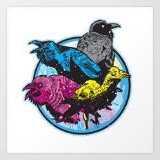 CMYK BIRDS Art Print