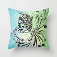 pisces Throw Pillows featuring Pisces by Heaven7