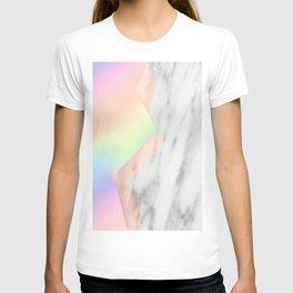 Unicorn Texture on Carrara Italian Marble T-shirt