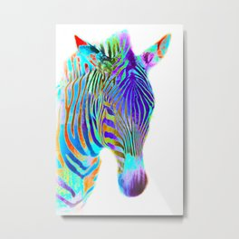 Freaky Zebra7 Metal Print