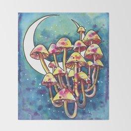 Mushroom Patch Throw Blanket