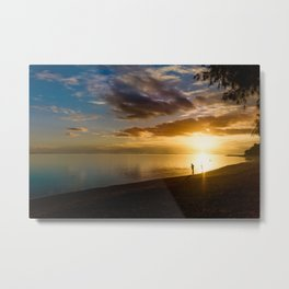 Beach Sunset- Cook Islands Metal Print