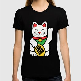 Lucky Cat Pattern T-shirt