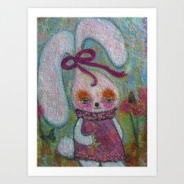 Tabitha Rabbit - Whimsies of Light Children Series Art Print