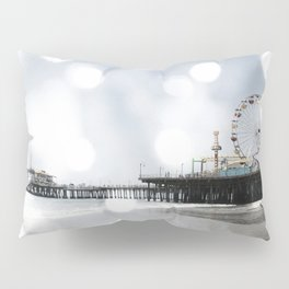 Sparkling grey Santa Monica Pier Pillow Sham