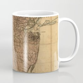 Vintage Map of New Jersey (1777) Coffee Mug