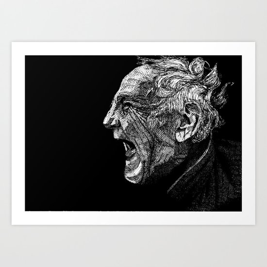 Homeless man4 Art Print