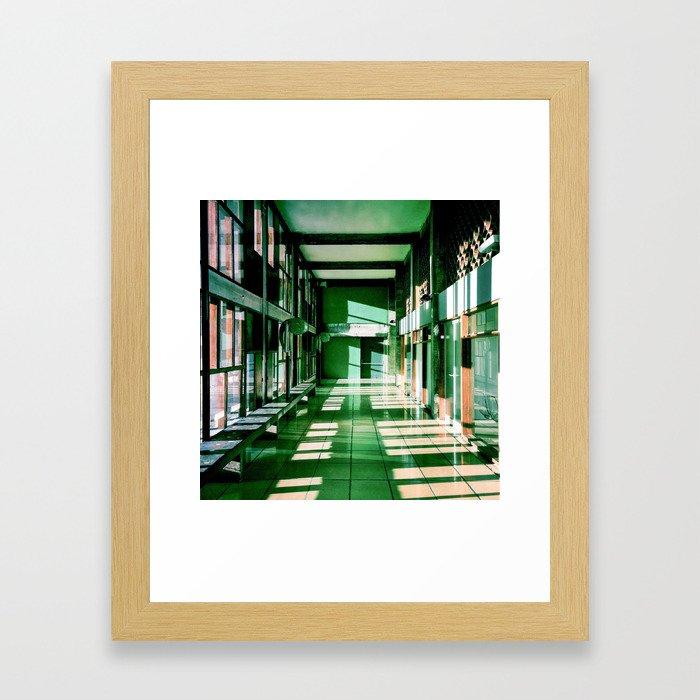Couloir Cité Radieuse - Le Corbusier - Marseille  Framed Art Print