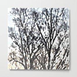 Branch Impression Metal Print