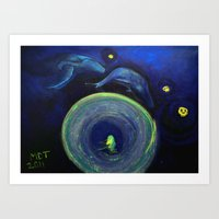 Humming in the vortex Art Print