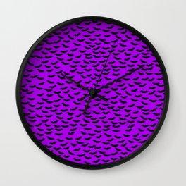 Bats in the Belfry-Purple Wall Clock