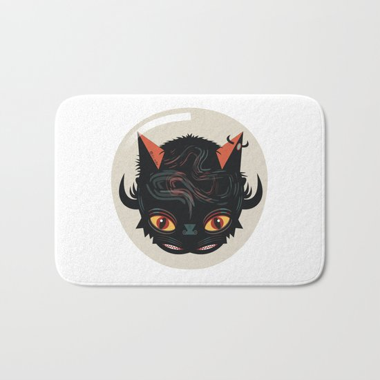 Devil cat Bath Mat