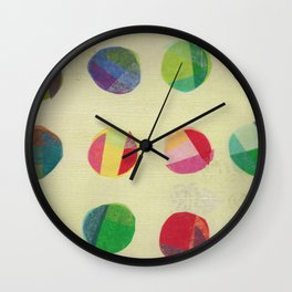 Retro Dots Wall Clock