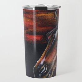 Red horse_Pastel drowing Travel Mug