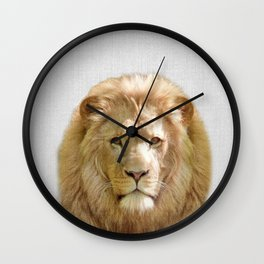 Lion - Colorful Wall Clock