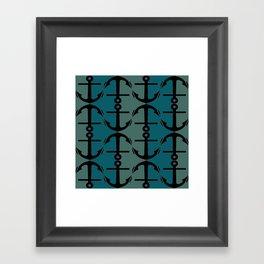 Ocean Anchors Framed Art Print