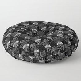 black japanese fan Floor Pillow