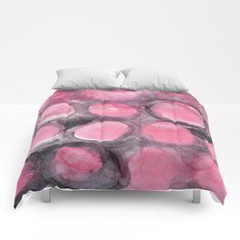 Pink and Gray Bubbles Comforters