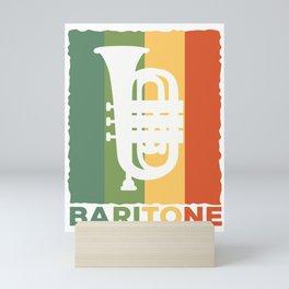 Baritone Retro Band Musician Vintage Lovers graphic Gift Mini Art Print
